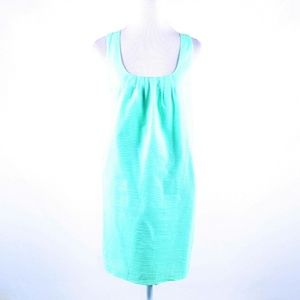 Green 100%cotton J. CREW sleeveless shift dress 4